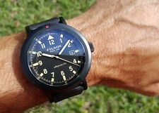 NEW! Filson Shinola Scout Black PVD Men's Date Field Watch Rubber $675 Retail ✅