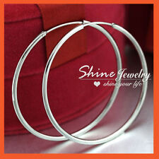 Leverback Hoop White Gold Filled Fashion Earrings