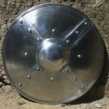 Braced Steel Buckler Medieval / Viking Shield Perfect For Re-enactment