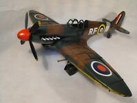 MODEL RAF SPITFIRE FIGHTER PLANE TINPLATE RETRO MODEL SHABBY CHIC VINTAGE LARGE