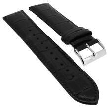 Hugo Boss Bracelet de Montre 22mm Cuir Bande Noir Empreinte Croco 1513022