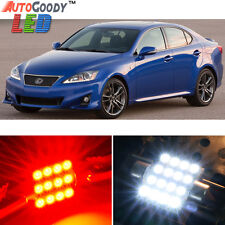 14 x Premium Red LED Lights Interior Package Kit for 2006-2014 Lexus IS250 IS350