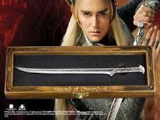 Lotr Hobbit Elvinking King Thranduil Replica Sword Letter Opener + Wood Display