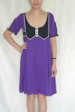 TEMPERLEY LONDON MUSE VIOLET MIX KNITTED DRESS SIZE S ........   #6