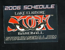 Lake Elsinore Storm--2006 Pocket Schedule--Redhawk Golf Course