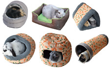 ROSEWOOD SMALL ANIMAL RABBIT GUINEA PIG IGLOO HIDES TUBES TUNNELS SNUGGLE BEDS
