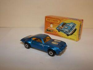 MATCHBOX S/F NO.4-C PONTIAC FIREBIRD HTF DARK BLUE BODY MIB