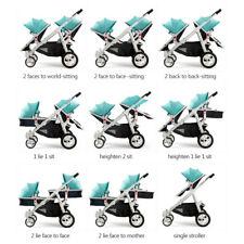 * BabyFiveStar GESCHWISTERWAGEN ZWILLINGSWAGEN KINDERWAGEN BUGGY NE269-2 NEU OVP
