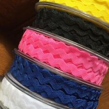 """RIC RAC BRAIDING CRAFTS  SEWING 6MM (15/64"""")- VARIOUS COLOURS/ LENGTHS"""