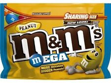 NEW SEALED PEANUT M&M'S MEGA MILK CHOCOLATE CANDIES SHARING SIZE 9.60 OZ BAG