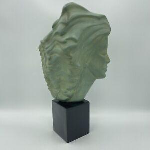 PEGGY MACH Woman Sea Goddess w/ Flowing Hair SCULPTURE VINTAGE Alva Museum Rep.