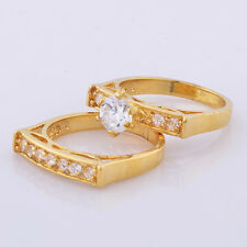 14k Yellow gold filled rings womens ring set love couple ring size 7 lot