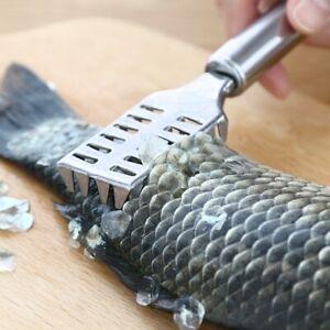 Fish Scale Remover Kitchen Tool Stainless Steel Scalier Descaler Scraper Peeler