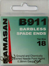 KAMASAN B911 Spade End Barbless Hooks All Sizes Available Size 18 10