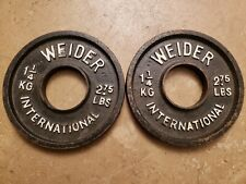 Weider International Pair of 1.25kg 2.75lb Olympic plates Weights vintage