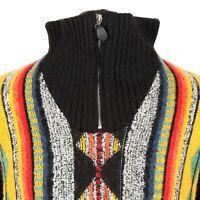 Vintage Alpaca Wool Cosby Sweater | Jumper Knit 3D Patterned Zip