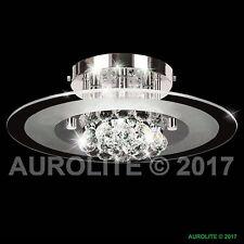 AUROLITE Nova Genuine Crystal Glass 2018 NEW  Modern Semi Flush Ceiling Light