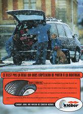 Publicité Advertising 1996  Pneu KLEBER  Krisalp 3  le kleber neige