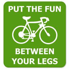 "Bicycle Funny car bumper sticker 4"" x 4"""