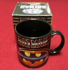 Vintage 80s 1989 BATMAN COFFEE MUG by Applause Tim Burton Rare In Original Box