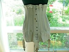 Antique 1910 - 1920's Royal Worcester Corset With Garters - Larger Size