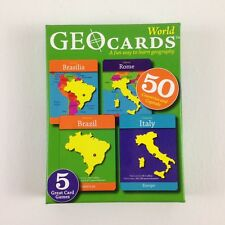 Geo Cards World Educational Geography Card Game 50 Countries Capitals Homeschool