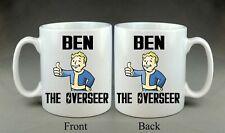 Personnalisé Fallout intendant Mug Cadeau geek Playstation Xbox PIP boy jeu vidéo