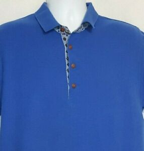 Vintage OshKosh B'gosh Men's Polo Shirt blue Size Large Pull Over Short Sleeve