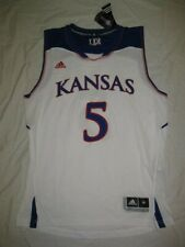 9c96130879e Kansas Jayhawks  5 White 2014-15 Men s Medium Adidas Replica Basketball  Jersey