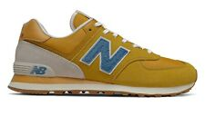 NEW BALANCE 574 Scarpe Uomo Sneakers Suede Textile VARSITY GOLD BLUE ML574SCB