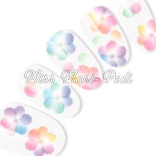 Nail Art Uñas Calcomanías Traslados Pegatinas Pastel Flores de Agua T137 Transparente