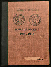 """1913-1938 US 5C Indian Head """"Buffalo"""" Nickel Set in Library of Coins Album"""