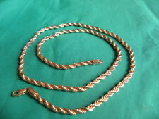 Collier chaîne OR Rose 18 k gold filled - 550 X 4 mm - Poids 22 grs .  (CH.3.1)