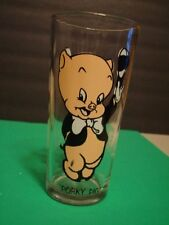 "Vintage 1973 Porky Pig 6 1/4"" Pepsi Warner Bros Collector Series Glass"