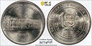 1979 Peru 1000 Soles PCGS MS67 National Congress Silver Registry Coin KM275