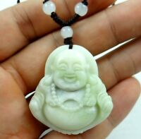 100% Chinese jade hand-carved the statue of Buddha PENDANT W-17