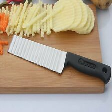 Potato French Fry Cutter Stainless Steel Vege Fruit Slicer kitchen Wave Knife