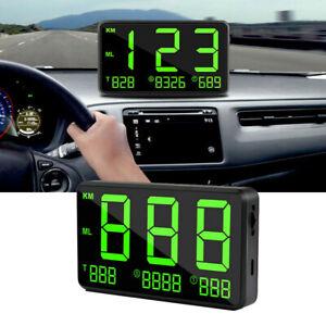 Universal Digital Car GPS MPH KM/h HUD Display Speedometer Alarm For Vehicle Car
