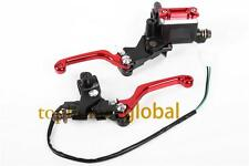 Red Brake Master Cylinder Reservoir levers set For Honda XR230 XR250 MOTARD