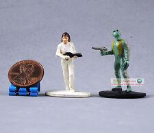 "Hasbro Star Wars 1"" Toy Soldier Figure Princess Leia Greedo Bounty Hunter S100"
