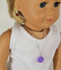 """Jewelry For 18"""" And 15 """" American Girl Dolls Necklace And Earrings Accessories"""