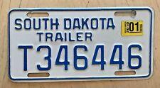 "2010 SOUTH DAKOTA TRAILER LICENSE PLATE "" T 346446 "" SD 10 TRL"