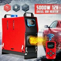 12V 5KW Diesel Air Heater Car Parking Heater LCD Monitor For Boat SUV Truck RV