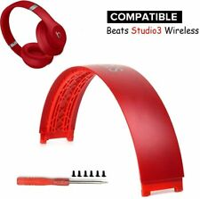 New Genuine Beats By Dre Studio 3 Wireless Headband Replacement Parts - Red