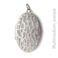 Vintage Modernist Silber Medaillon 60er Jahre silver locket 60s