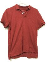 J Crew Mens Short Sleeve Polo Shirt Red Size Small