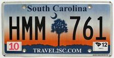 "South Carolina 2012 ""Palmetto Sunrise"" License Plate, HMM 761"