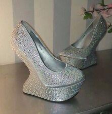 Show Heels Wedges  37  silver  Strasssteine - Lady Gaga
