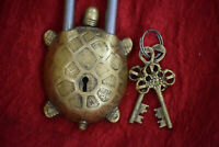 Turtle Figure Shaped Brass Padlock Golden Design Handmade safety Lock GK 532