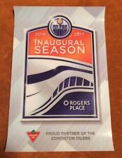 Rogers Place 2016-17 Oilers Inaugural Canadian TIre Official 4 X 6 Decal Sticker